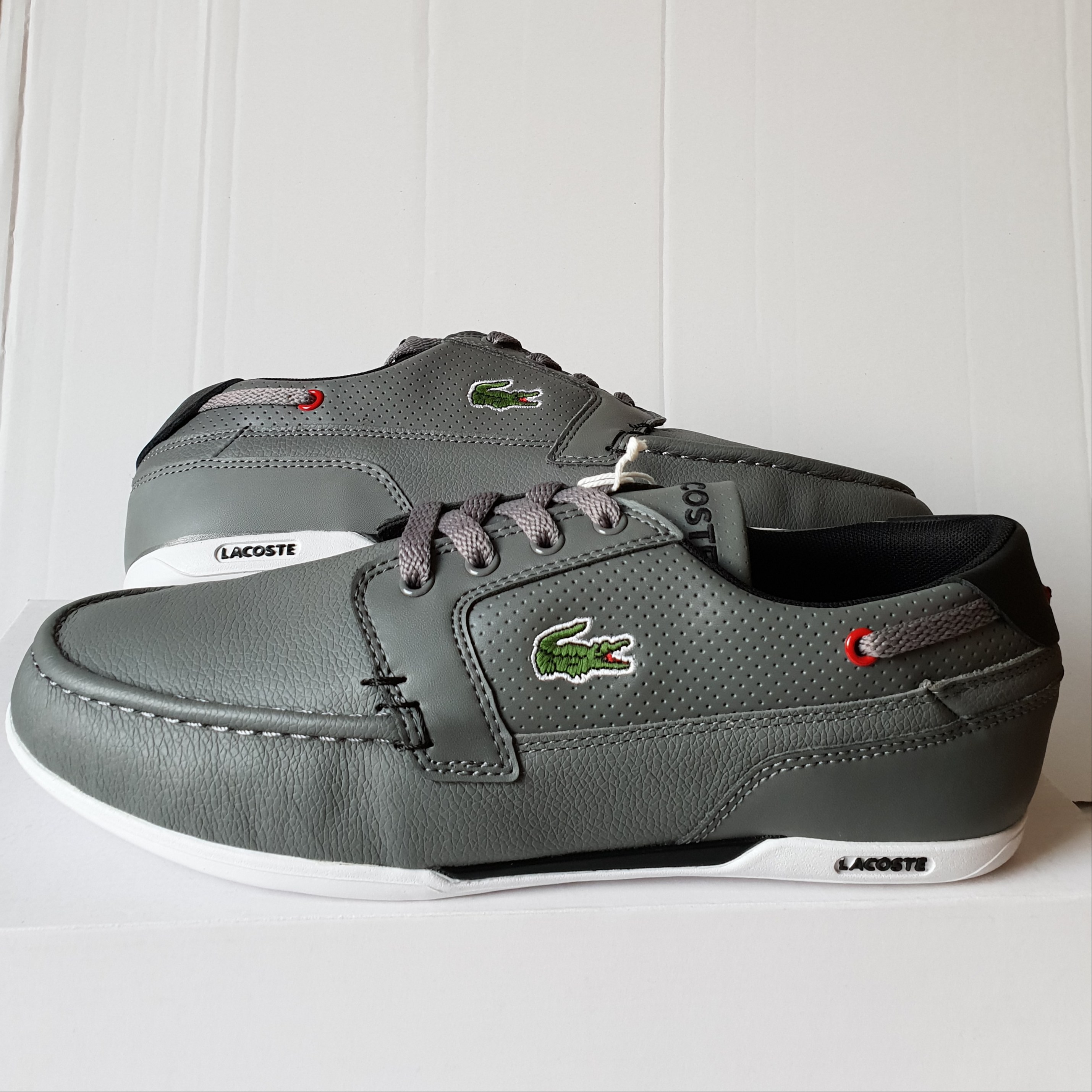 new product a3487 e2c0e BRAND NEW LACOSTE MENS DREYFUSE SPM LEATHER BOAT SHOE