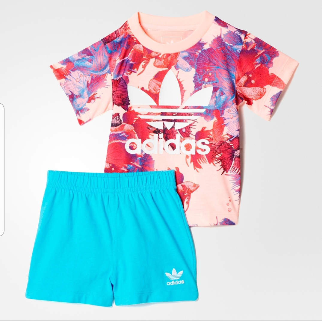 3337d1d437c ADIDAS INFANT GIRLS SUMMER SET TOP SHORT | Sporty Express